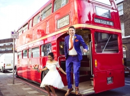 Classic Red London Bus for weddings in Kent